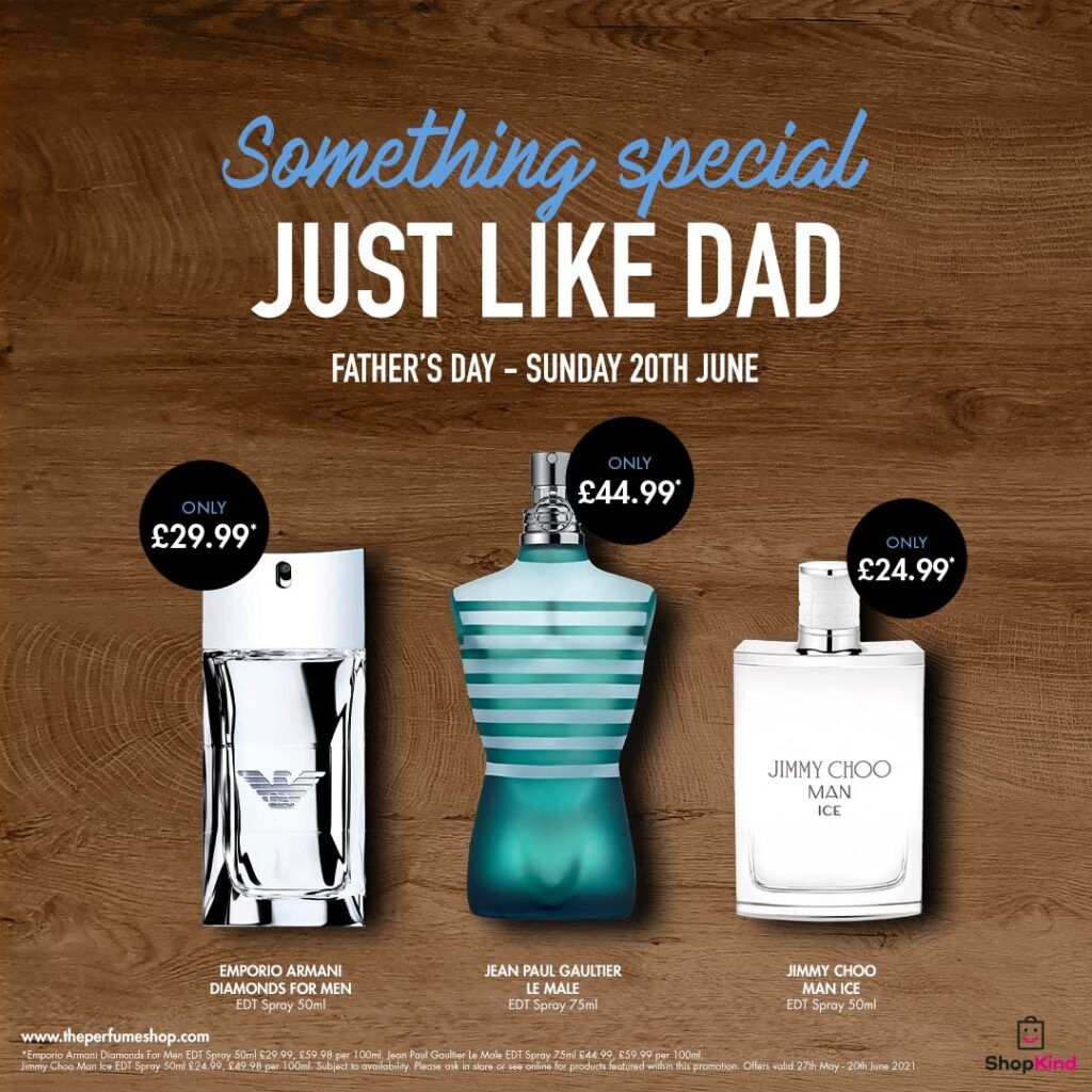 Father's Day Deals at The Perfume Shop