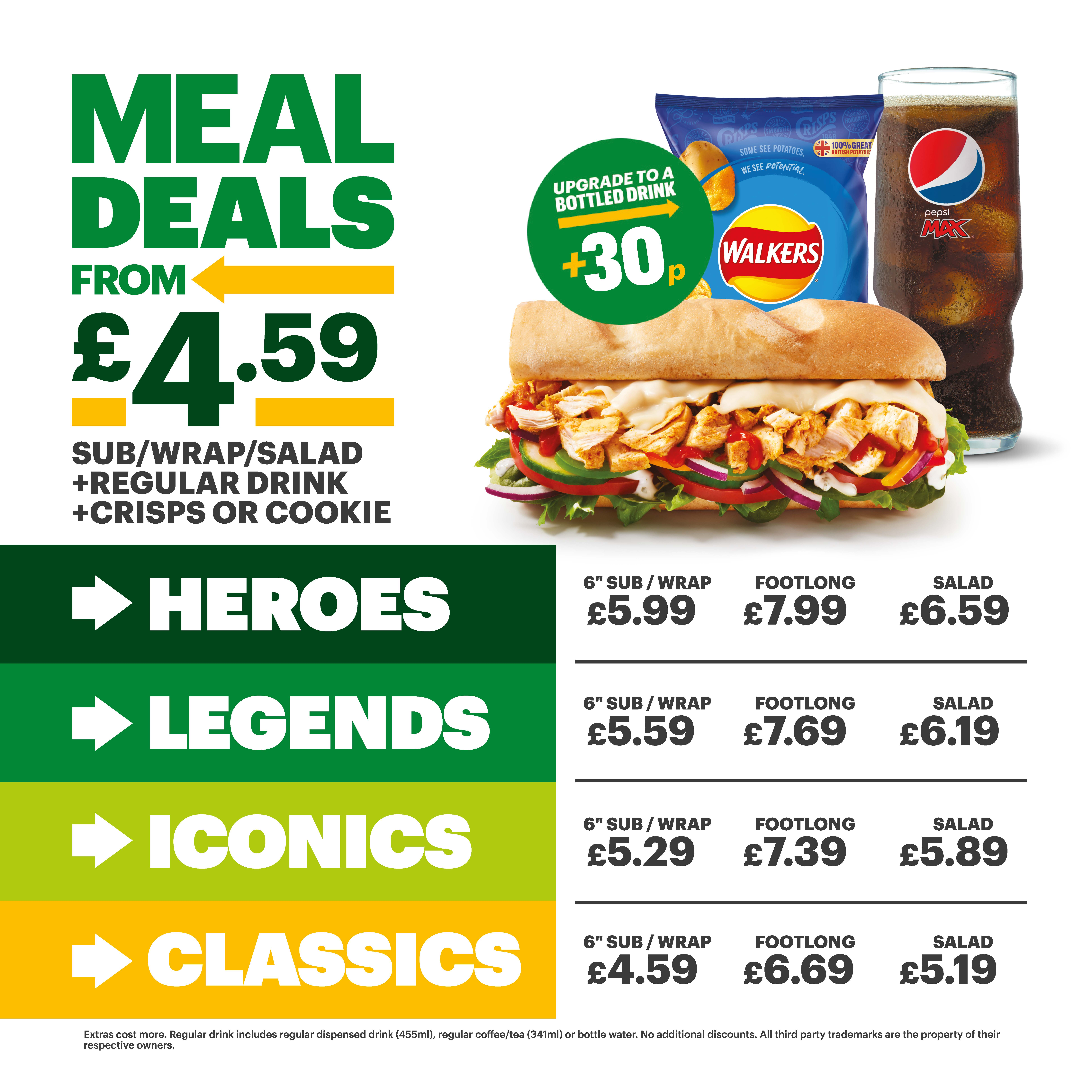 Lunch at Subway from £4.59