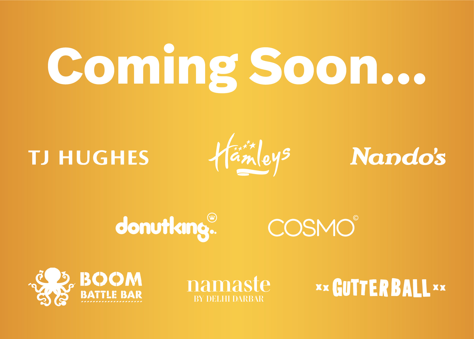 Exciting new retail, restaurants and leisure opening this Autumn